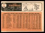 1966 Topps #408  Lee Thomas  Back Thumbnail