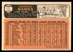 1966 Topps #488  George Banks  Back Thumbnail