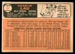 1966 Topps #368  Charlie Lau  Back Thumbnail