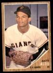 1962 Topps #413  Matty Alou  Front Thumbnail