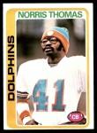 1978 Topps #96  Norris Thomas  Front Thumbnail