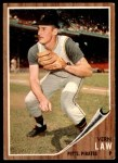 1962 Topps #295  Vern Law  Front Thumbnail
