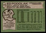 1978 Topps #278  Ed Podolak  Back Thumbnail