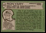 1978 Topps #430  Ron Yary  Back Thumbnail
