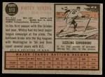 1962 Topps #513  Whitey Herzog  Back Thumbnail