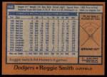 1978 Topps #168  Reggie Smith  Back Thumbnail