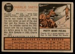 1962 Topps #283  Charlie Smith  Back Thumbnail