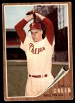 1962 Topps #111 NRM Dallas Green  Front Thumbnail