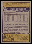 1979 Topps #457  Steve Schubert  Back Thumbnail