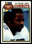 1979 Topps #24  Ed Too Tall Jones  Front Thumbnail