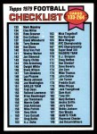 1979 Topps #232   Checklist 133-264 Front Thumbnail