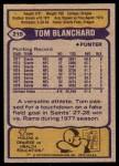 1979 Topps #219  Tom Blanchard  Back Thumbnail