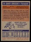 1972 Topps #36  Gary Gregor   Back Thumbnail