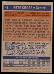 1972 Topps #49  Pete Cross   Back Thumbnail