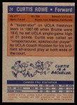 1972 Topps #24  Curtis Rowe   Back Thumbnail