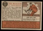 1962 Topps #324  Joe McClain  Back Thumbnail