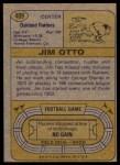 1974 Topps #409  Jim Otto  Back Thumbnail