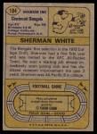1974 Topps #184  Sherman White  Back Thumbnail