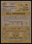 1974 Topps #287  Bill Brundige  Back Thumbnail