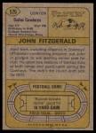 1974 Topps #526  John Fitzgerald  Back Thumbnail