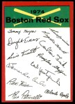 1974 Topps Red Checklist   Red Sox Red Team Checklist Front Thumbnail