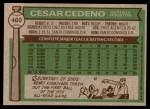 1976 Topps #460  Cesar Cedeno  Back Thumbnail
