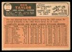 1966 Topps #174  Ron Taylor  Back Thumbnail