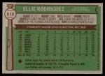 1976 Topps #512  Ellie Rodriguez  Back Thumbnail