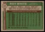 1976 Topps #225  Roy White  Back Thumbnail