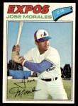 1977 Topps #102  Jose Morales  Front Thumbnail