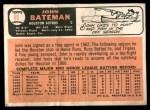 1966 Topps #86  John Bateman  Back Thumbnail