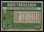 1977 Topps #407  Dave Freisleben  Back Thumbnail
