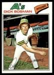 1977 Topps #101  Dick Bosman  Front Thumbnail