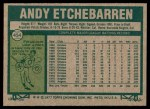 1977 Topps #454  Andy Etchebarren  Back Thumbnail