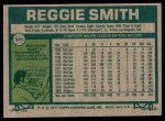 1977 Topps #345  Reggie Smith  Back Thumbnail