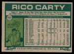 1977 Topps #465  Rico Carty  Back Thumbnail