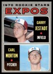 1970 Topps #109   -  Carl Morton / Garry Jestadt Expos Rookies Front Thumbnail
