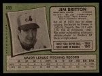 1971 Topps #699  Jim Britton  Back Thumbnail