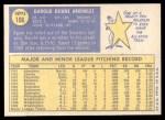 1970 Topps #106  Darold Knowles  Back Thumbnail