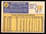 1970 Topps #360  Curt Flood  Back Thumbnail
