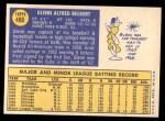 1970 Topps #480  Glenn Beckert  Back Thumbnail