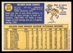 1970 Topps #625  Dean Chance  Back Thumbnail