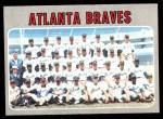 1970 Topps #472   Braves Team Front Thumbnail