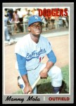 1970 Topps #157  Manny Mota  Front Thumbnail