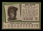 1971 Topps #470  Bob Oliver  Back Thumbnail