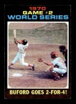 1971 Topps #328   -  Don Buford / Johnny Bench 1970 World Series - Game #2 - Buford Goes 2-for-4 Front Thumbnail