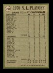 1971 Topps #201   -  Ty Cline / Manny Sanguillen 1970 NL Playoffs - Game 3 - Cline Scores Winning Run Back Thumbnail
