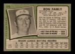 1971 Topps #315  Ron Fairly  Back Thumbnail
