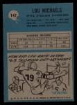1964 Philadelphia #147  Lou Michaels   Back Thumbnail