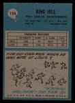 1964 Philadelphia #134  King Hill  Back Thumbnail